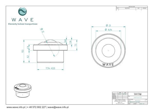 Kula transportowa element kulowy KO 12 30 specyfikacja