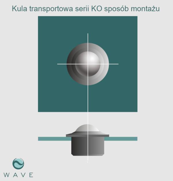 Kula transportowa element kulowy KO 60 1400 montaż