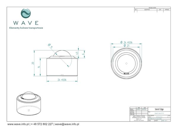 Kula transportowa element kulowy KP 15 60 specyfikacja