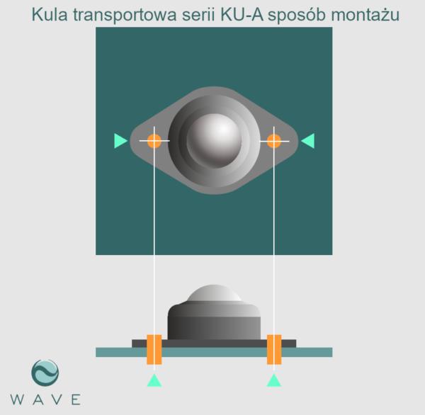 Kula transportowa element kulowy KU 15 A 10 montaż