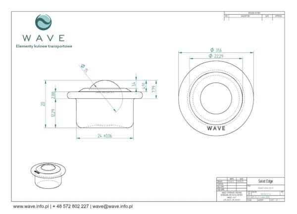 Kula transportowa element kulowy KU 15 KI 15 specyfikacja