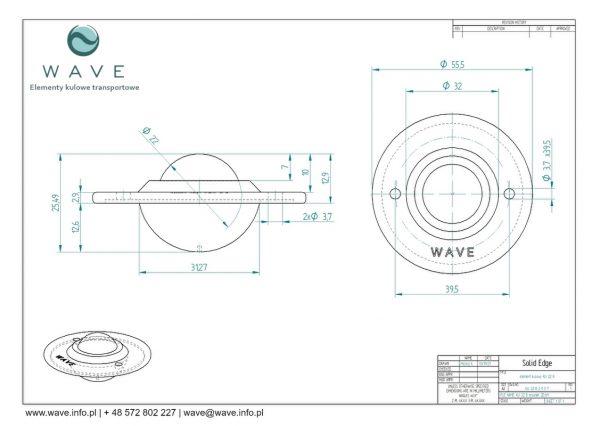 Kula transportowa element kulowy KU 22 B 15 specyfikacja