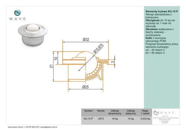 Kula transportowa element kulowy KU-15 P 10 specyfikacja II